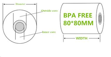 FSC Certified thermal paper rolls