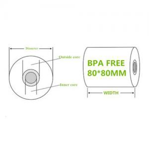 80*80mm FSC Certified Thermal Paper Rolls