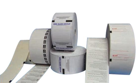 Thermal Paper Roll with Black Marks
