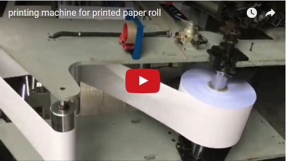 Printing machine for printed paper roll